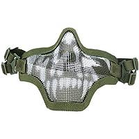 Máscara de Acero de bajo Carbono Alambre Guerrero Campo al Aire Libre CS Cosplay del Juego de Halloween Máscara Proteja Sólido Regard