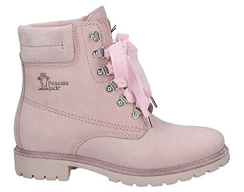 iefel Panama 03 Glitter,Frauen Boots,Lederstiefel,Schnürstiefel,Combat,Chukka,Rosa,EU 40 ()