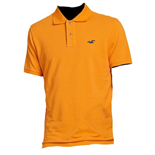 hollister-homme-slim-fit-pop-placket-polo-top-shirt-courte-taille-small-jaune-616797548