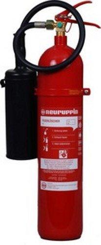 Feuerlöscher CO2 / Kohlendioxid 5kg Neuruppin K 5 Alu und Instandhaltungsnachweis von Feuerlöscher-Tauschsystem