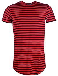 T-shirt oversize marinière homme Gov Denim rouge 161005_RD
