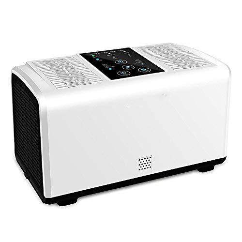 YUHT Luftreiniger Air Purifier mit HEPA-Kombifilter & Aktivkohlefilter, Luftreiniger Aktivkohle Filterung für 99,97% Filterleistung und Nachtlicht, perfekt für Allergiker und Raucher, White -