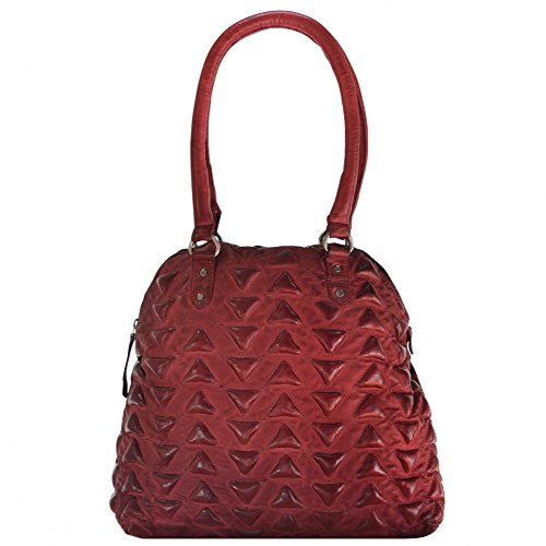 Billy the Kid Marokko Aisha Triangle sac fourre-tout cuir 34 cm red