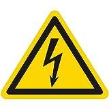 Warnzeichen W012 - Warnung gefährliche elektrische Spannung - Seitenlänge 12