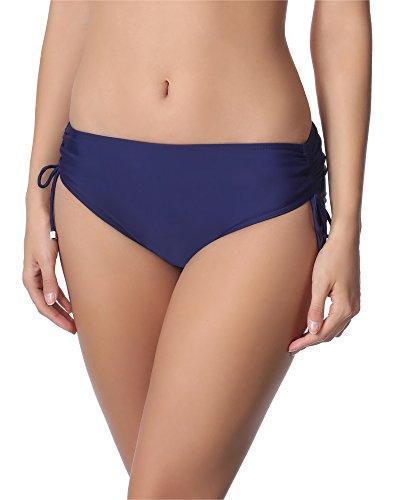 Merry Style Bragas Tanga de Bikini Parte Inferior Bañador Mujer M30 Azul Oscuro 6007, 50 Tallas...
