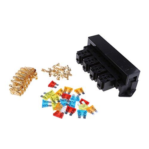 Sharplace DIY Wege Input Stud Kfz-Sicherung Relais Box Halter Panel mit Terminal-Kits Universal -