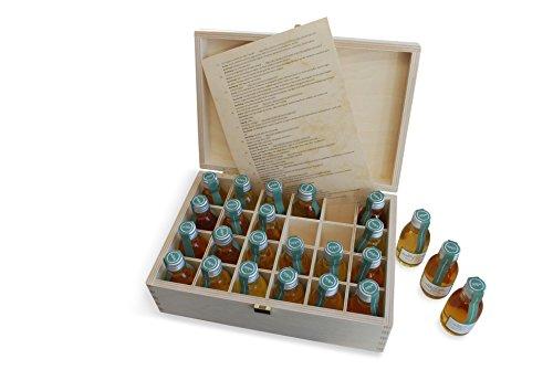 Adventskalender Whisky in der edlen Holz Geschenkbox ® 24 exklusive Whiskysorten