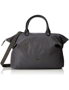 BREE Damen Barcelona Nylon 21, Slate, Icon Bag W17 Tote, Grau (Slate), 28x12x38 cm