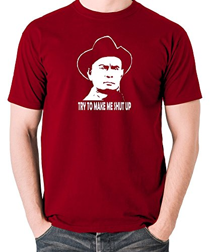 Westworld - Gunslinger, Try to Make Me Shut Up T Shirt