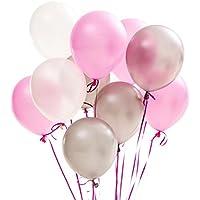 PuTwo Látex Globos de Cumpleaños 100 Piezas Globos de Helio Globos Boda Niña Niño para Cumpleaños