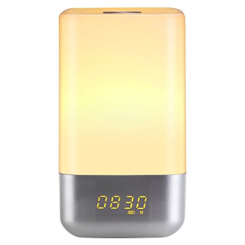 Weihao-Wake-Up-Light-Alarm-Clock-with-Sunrise-Stimulation-and-5-Natural-Sounds-Touch-Control-Colour-Changing-Table-Mood-Lamp-USB-Rechargeable-Bedside-LED-Night-Light
