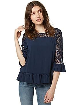 Tom Tailor für Frauen Shirt / Blouse Bluse mit Volant-Ansatz