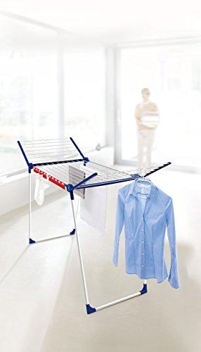 Leifheit 81520 Tendedero de suelo Azul, Color blanco secadora - Secadora de ropa (1 pieza(s))