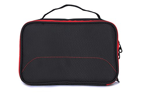 Saco Gadget Organizer Travel Kit Bag For All Gadgets, Power Bank, Cables, USB Pen Drives, Mobile Phone Accessories Memory Cards, Sim cards, DSLR Digital Camera Accessories Organizer / Universal Travel Bag Go Bag /Universal Travel Kit Organizer For Small Electronics And Accessories & Other Digital Devices  available at amazon for Rs.490