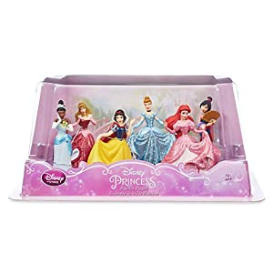New Disney Store Princess Glitter Formal Figurine Figure Set of 6 Toy Playset