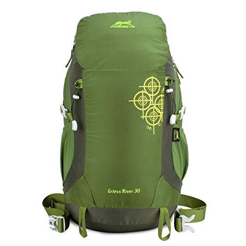 Imagen de eshow 30l  de senderismo al aire libre de nailon impermeable montaña  de viaje para hombre y mujer color verde armado