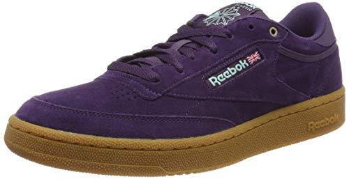 Reebok Herren Club C 85 MU Fitnessschuhe, Mehrfarbig (Mc/Deep Purple/Malac 0), 44.5 EU (Tennis-schuhe Toms)