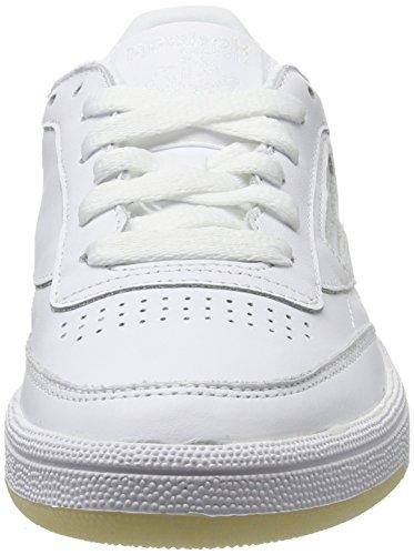 Reebok Damen Club C 85 Lthr Gymnastikschuhe Elfenbein (Pearl-white/white/ice)