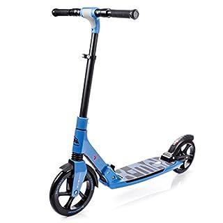 METEOR® X - MAX Faltbarer Tretroller für Kinder, Jugendliche und Erwachsene | Scooter | Höhenverstellbare Lenkstange | Große Räder mit 230/200 mm | ABEC7 | Fußbremse | Gummigriffe | Aluminium | bis 100 kg , Modelltyp:X-MAX Street Surfing