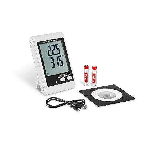 Steinberg Systems SBS-DL-123L Datenlogger für Temperatur und Feuchte Temperaturlogger mit Display Hygrometer Klimalogger mit Mini-USB-Anschluss