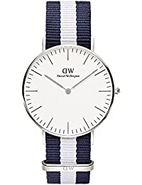 Daniel Wellington Damen-Armbanduhr Glasgow Analog Quarz Nylon DW00100047