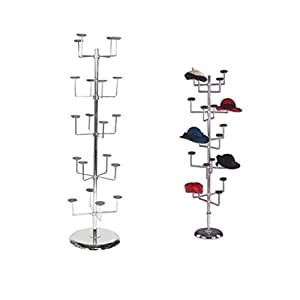 NEW Heavy Duty 5étages; tournant ornements Chapeau Foulard Casquette Spinner Dispaly Support