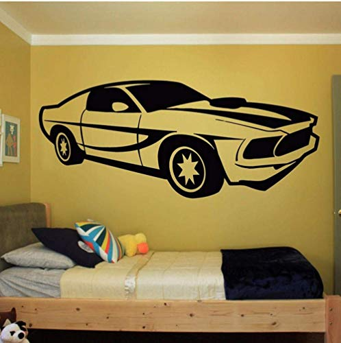 Wall Decalsrushed New Wall Room Decor Kunst Vinyl Aufkleber Wandbild Aufkleber Geschwindigkeit Auto Boy Supercar Auto Abnehmbare Wand Vinyl Aufkleber 38X90Cm -