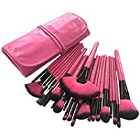 Puna Store 24 Piece Makeup Brush Set with Storage Pouch (Pink)