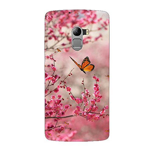 Clapcart Butterfly Design Printed Mobile Back Cover Case For Lenovo K4 Note / Lenovo A7010 -Multicolor