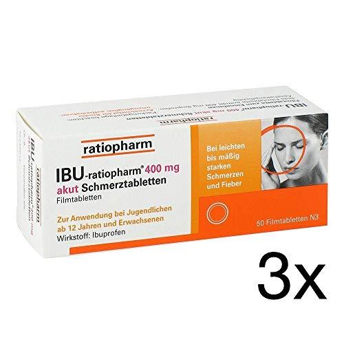 IBU-ratiopharm 400 akut Schmerztabletten 3x50 Filmtabletten Sparpack inklusive einer Handcreme von vitenda.de