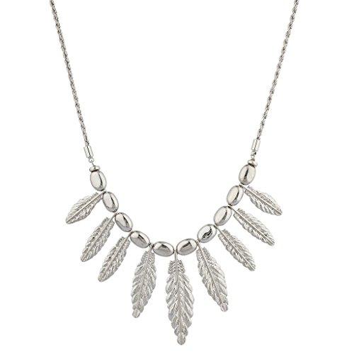 lux-zubehr-boho-silvertone-gegossen-ohrringe-feder-mini-statement-halskette