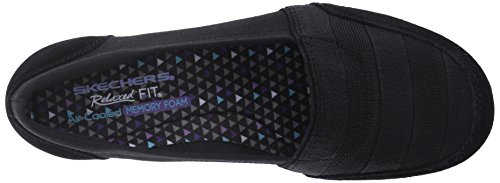 Skechers carriÚre 9 To 5 Slip-on Flat Black Canvas/Suede/Gore