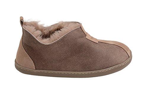 Femmes Luxe Peau De Mouton Pantoufles Chaussons Chaussures Avec Doublure Chaud Laine