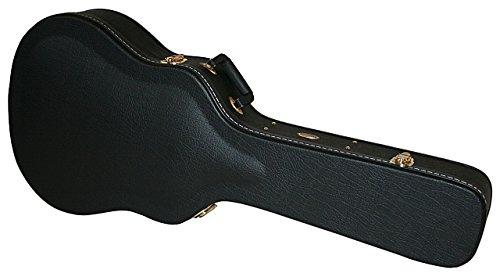 Gitarrenkoffer, gewölbte Decke für Jumbo, 12 Saitige Akustik + ES175 Style (Gewölbte Decke Schwarz)