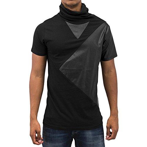 Bangastic Herren Oberteile / T-Shirt Turtleneck Schwarz