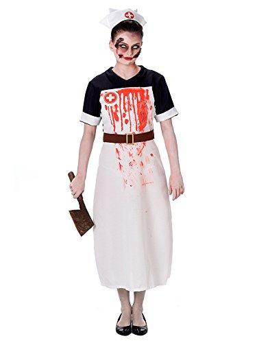 or-Krankenschwester Halloween-Damenkostüm Schwarz-Rot-Weiss L (Die Ahnungslosen Kostüm)