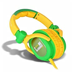 iDance Fxxx ME - FDJ 300 Over-Ear Headphone (Green/Yellow)