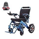 Foldable Electric Wheelchair Lifetime Warranty Lightweight Long Driving Range 15km Portable Power Wheelchair Detachable Anti-Theft Li-ion Battery 13A 24V 250W*2 Open/Fold in 1 Second