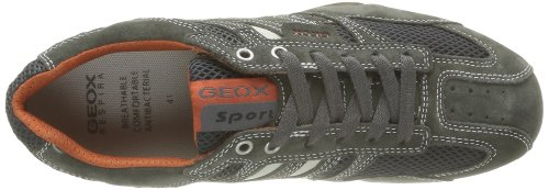 Geox Uomo Snake K, Baskets Basses Homme Grau (DK GREY/OFF WHITEC1300)