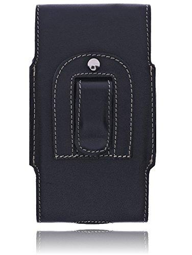 Burkley - Vintage Design - Leder Handyhülle für Huawei Honor 5X Gürteltasche | Schutzhülle | Handytasche | Vertikal-Tasche | Holster | Case | Cover | Hülle mit Gürtel-Schlaufe (Schwarz / Horizontal) schwarz / black