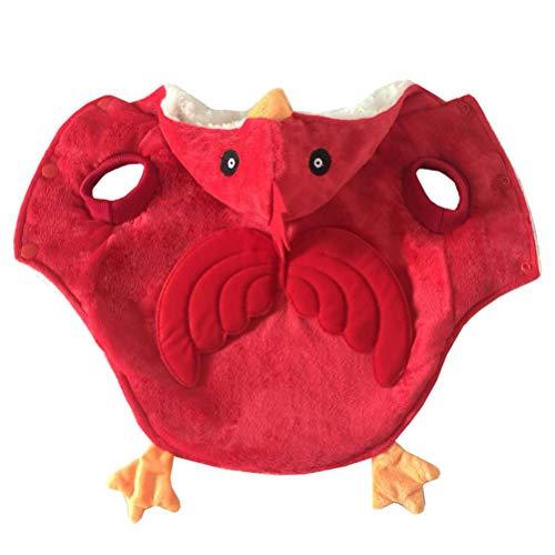 Costume Creative Cute Chick Costume Pet Makeup Kostüm für Hund Katze Tier (Größe XL, Rot) ()