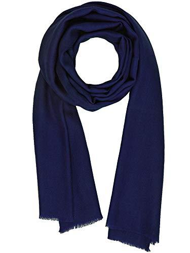 Kaschmir Gefühl Wolle Seide Mischung Schal Unisex Pashmina Herren Damen Schal Medieval Blue