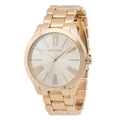 David Lenox - Goldfarbene Uhr im Stil einer Damenuhr  DL0321.