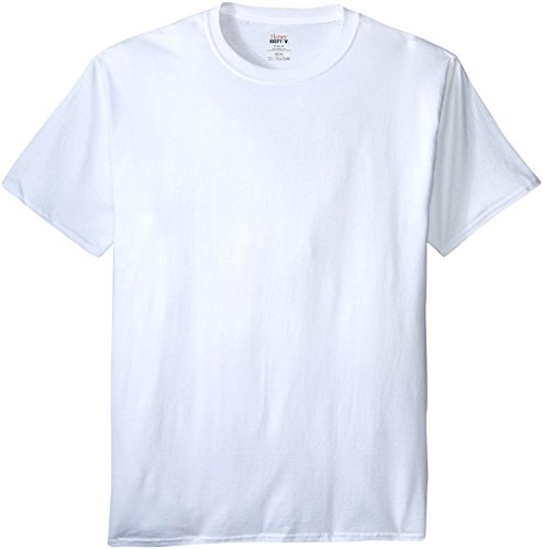Hanes Men's Beefy-T Crewneck Short-Sleeve T-Shirt, White - 2X Tall (T-shirt Xxl 2x)
