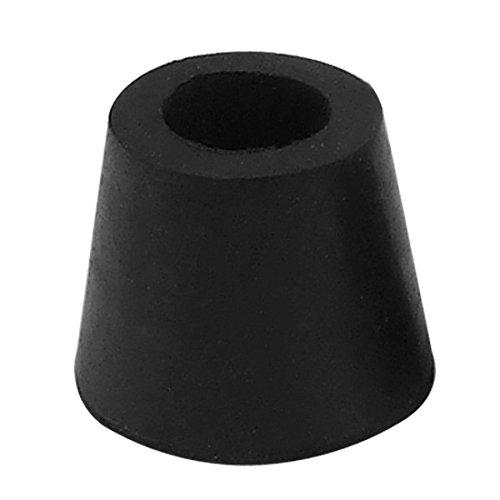 Runde Abdeckungen Stuhl, Tisch, Bein-Fuß-Bodenschutz schwarz (Stuhl Bein Abdeckungen)