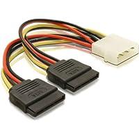 DELOCK Adapter Power SATA HDD2x zu 4Pin-St 10cm 60102