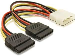 DELOCK Adapter Power SATA HDD2x zu 4Pin-St 10cm