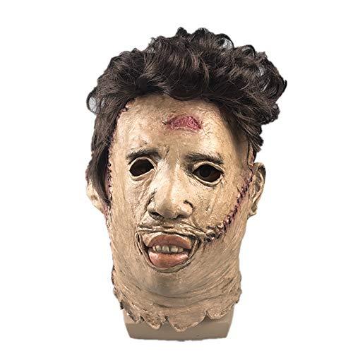Story of life Neuheit Latex Horror Masken/Halloween Kostüm Costume Game/Scary Head Maske Für Erwachsene/Mann Maske Mit Haaren Für Halloween Party,Flesh