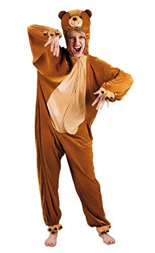 (Karneval-Klamotten Bär Kostüm Damen aus Plüsch Bären Erwachsene-Kostüm Teddy-Bär Braun Kostüm Karneval Tier-Kostüm Damen-Kostüm Einheitsgröße)