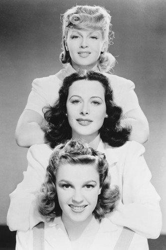 Moviestore Judy Garland unt Lana Turner 91x60cm Schwarzweiß-Posterdruck -